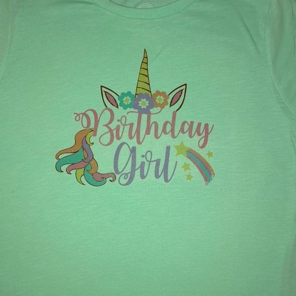 Birthday Girl Unicorn T Shirt Custom Order